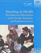 Investing in health : development…