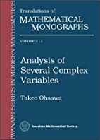 Analysis of Several Complex Variables by…