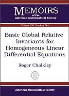 Basic Global Relative Invariants for…
