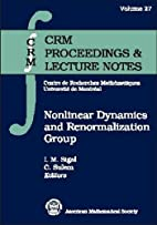 Nonlinear Dynamics and Renormalization Group…