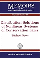 Distribution Solutions of Nonlinear Systems…