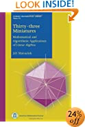 Thirty-three Miniatures: Mathematical and Algorithmic Applications of Linear Algebra (Student Mathematical Library)