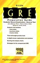 Cliff's GRE General Test by Jerry Bobrow…