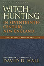 Witch-Hunting In Seventeenth-Century New…