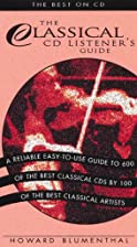 Classical Music CD Listener's Guide:…