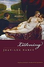 Listening by Jean-Luc Nancy
