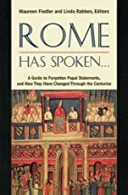 Rome Has Spoken . . .: A Guide to Forgotten…