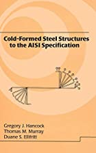 Cold-formed steel structures to the AISI…