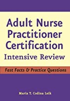 Adult Nurse Practitioner Certification:…