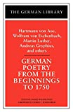 Walse-Engel, Ingrid: German Poetry from the Beginnings to 1750