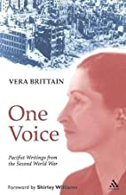 One Voice: Pacifist Writings from the Second…