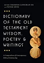 Dictionary of the Old Testament: Wisdom,…