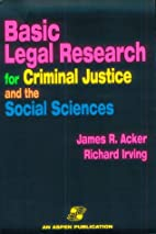 Basic Legal Research for Criminal Justice…