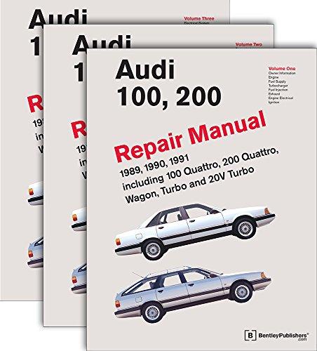 three-volume-set-audi-100-200-repair-manual-1989-1990-1991-including-100-quattro-200-quattro-wagon-turbo-and-20v-turbo