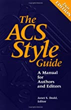 The ACS Style Guide: A Manual for Authors…