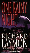 One Rainy Night by Richard Laymon