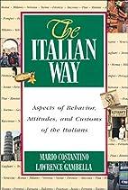 The Italian Way by Mario Costantino