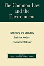 The Common Law and the Environment:…