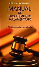 Manual De Procedimiento Parlamentario/…