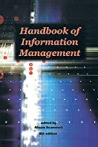 Handbook of Information Management by Alison…