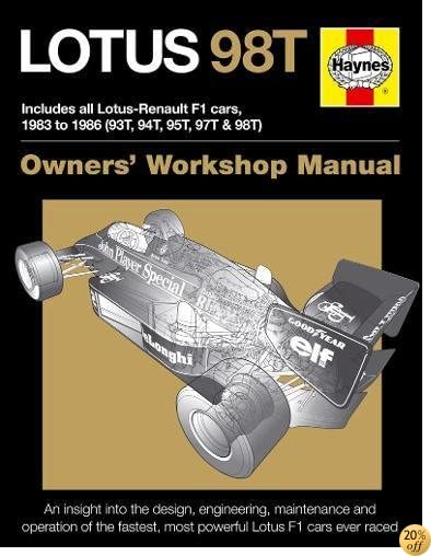 Lotus 98T: Includes all Lotus-Renault F1 cars, 1983 to 1986 (93T, 94T, 95T, 97T & 98T) (Owners' Workshop Manual)