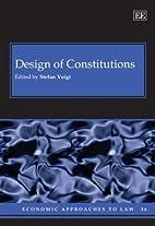 Design of Constitutions (Economic Approaches…