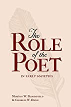 The Role of the Poet in Early Societies by…