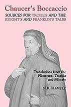 Chaucer's Boccaccio: Sources for…