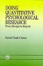 Doing Quantitative Psychological Research:…
