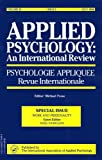 Nicholson, Nigel: Work And Personality: A Special Issue Of The Journal Applied Psychology, An International Review