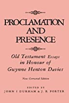 Proclamation and presence : Old Testament…