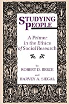 STUDYING PEOPLE by Robert D. Reece