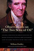 Observations on The Two Sons of Oil by…