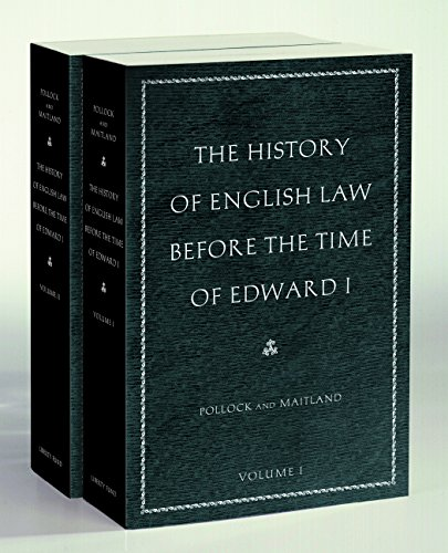 the-history-of-english-law-before-the-time-of-edward-i-in-two-volumes
