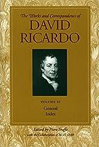 General Index Vol 11 by David Ricardo