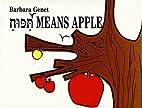Ta-Poo-Ach Means Apple by Barbara Genet