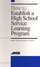 How to Establish a High School Service…