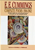 E.E. Cummings: Complete Poems 1904-1962 by…