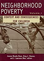 Neighborhood Poverty: Context and…