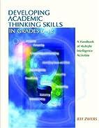 Developing Academic Thinking Skills in…