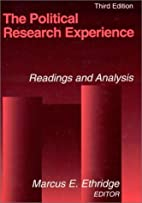 The Political Research Experience: Readings…