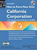 Mancuso, Anthony: How to Form Your Own California Corporation: Ringbound