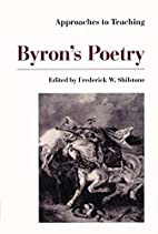 Approaches to Teaching Byron's Poetry…