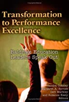 Transformation to Performance Excellence by…