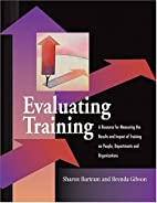 Evaluating Training by Sharon Bartram