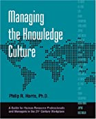 Managing the Knowledge Culture by Phillip…