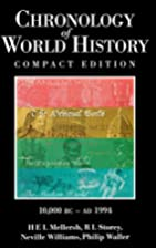 The Chronology of World History: 10,000…