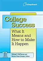 College success : what it means and how to…