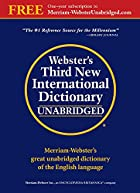Webster's Third New International Dictionary…
