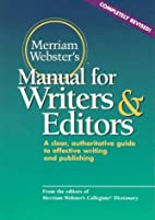 Merriam-Webster's Manual for Writers and…